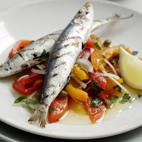 Sardines with Pepper Salad