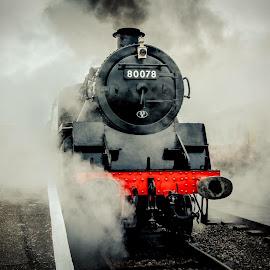 Dereham Train  by Steven Hitchman - Transportation Railway Tracks
