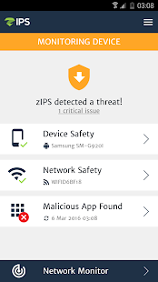 ZIMPERIUM Mobile IPS (zIPS) Screenshot