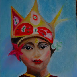 Bali Girl by Raluca Tataru - Painting All Painting