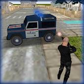 Police Jeep Favela Parkplatz