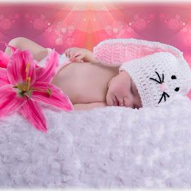Sleeping Bunny by Melissa Culp - Babies & Children Babies ( littleemma, easter, bunny, sleeping bunny, emma )