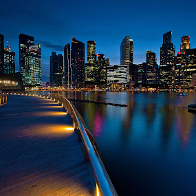 Marina Bay by PETER  LEE  - Landscapes Travel