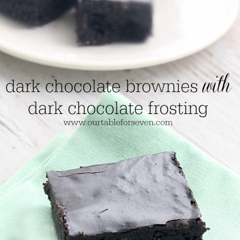 Dark Chocolate Brownies with Dark Chocolate Frosting