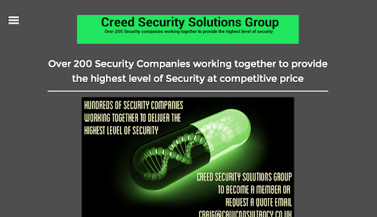 Creed Security Solutions - screenshot