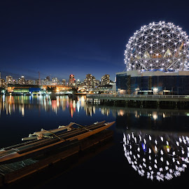 Science World by Bruce Irschick - Buildings & Architecture Other Exteriors ( reflection, twilight, night, vancouver )