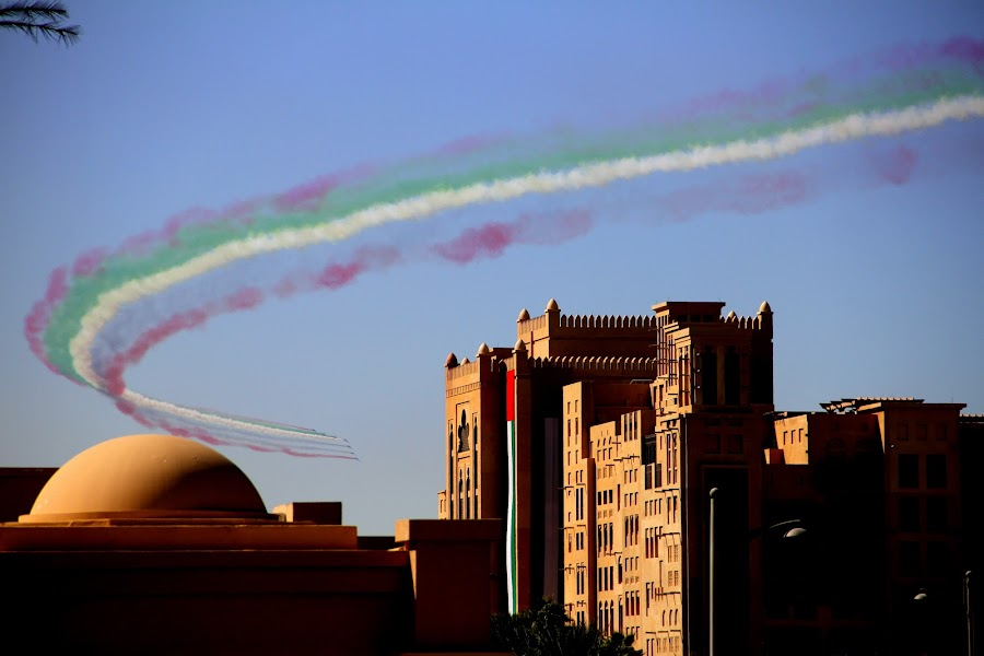 Dubai Air Show 2011 by Jaideep Abraham - News & Events World Events ( acrobats, madinat jumeirah, dubai, air show )