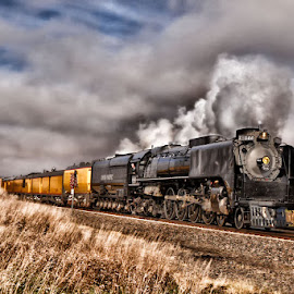 844 East by Ryan Trullinger - Transportation Trains ( clouds, railway, steam train, train, transportation )