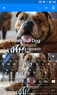 Honey Bull Dog Emoji Keyboard - screenshot