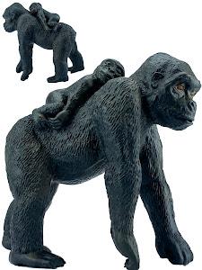 """Игрушка-фигурка серии """"Город Игр"""", самка гориллы M2, с детенышем"""