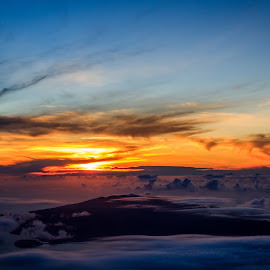 Nightfall Destiny by Samuk Domingues - Landscapes Sunsets & Sunrises ( clouds, sky, sunset, ocean, landscape, sun, island,  )