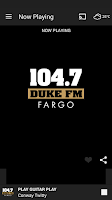 Screenshot of 104.7 DUKE FM (FARGO)