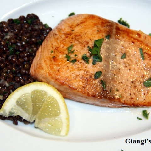 Sauteed Salmon with Lentils