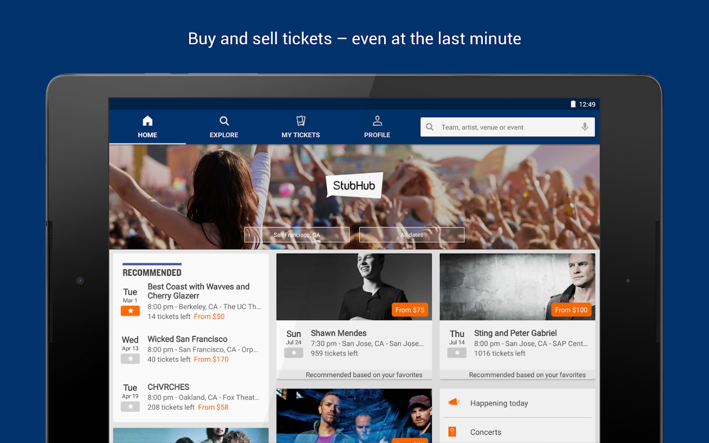 StubHub - Event tickets Screenshot 6