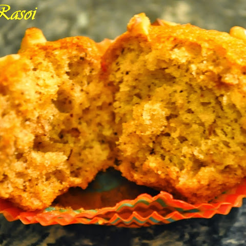 Eggless Banana Walnut Cupcake