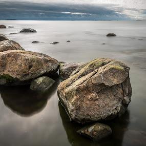 Rocks outside Harakka island by Juha Kauppila - Landscapes Waterscapes ( sky, stone, sea, rocks )