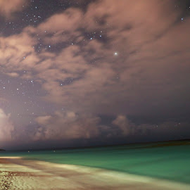 Shoal Bay, Anguilla at night by Greg Bracco - Landscapes Beaches ( night shots, beaches, night photography, night scene, beach, nightscape )