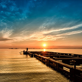 Sunrise on Banongan by Dhiean Kukuh - Landscapes Waterscapes