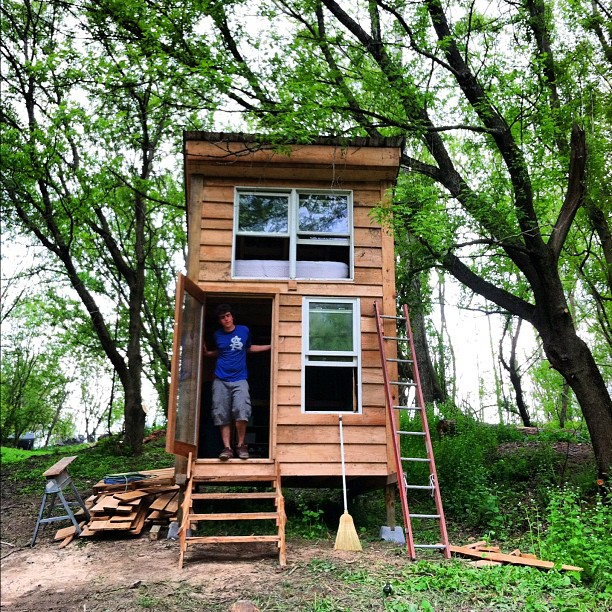 Patrick and his new house on the farm. #btv by Dave Link - Instagram & Mobile Instagram