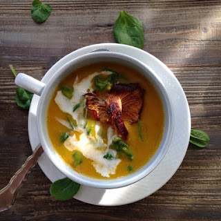 Butternut Squash Soup with Chanterelle Mushroom