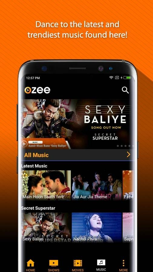 OZEE Free TV Shows Movie Music Screenshot 3