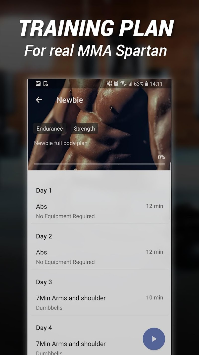 MMA Spartan System Workouts & Exercises Pro Screenshot 2