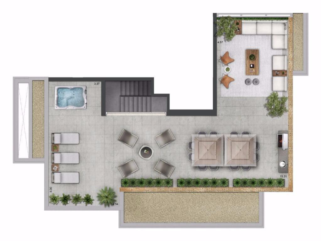 Planta Duplex Superior - 314 m²