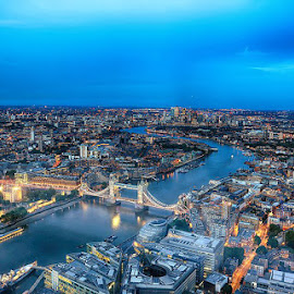 London by Abdul Rehman - City,  Street & Park  Vistas ( england, london, uk, tower bridge, shard, the shard, night photography,  )