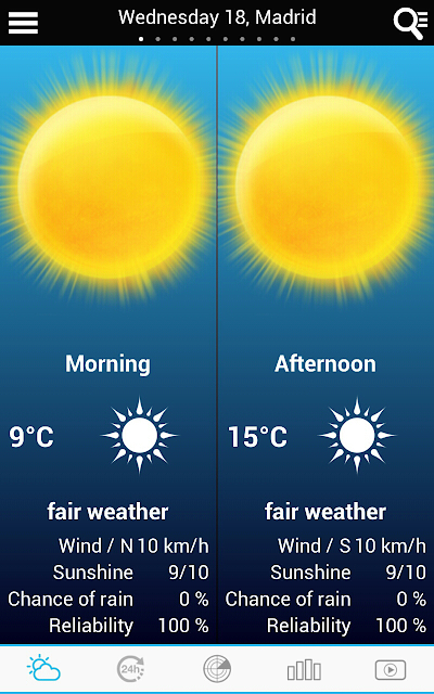 Weather for Spain screenshots