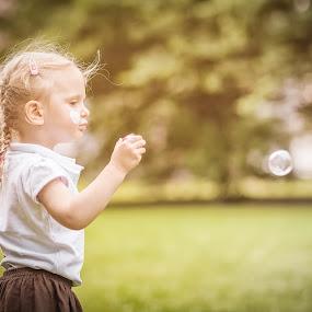Bubbles by Andrej Topolovec - Babies & Children Child Portraits ( bubbles, child portrait, children, childrens, portrait )