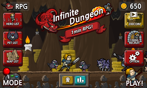 Infinite Dungeon - 1min rpg - screenshot