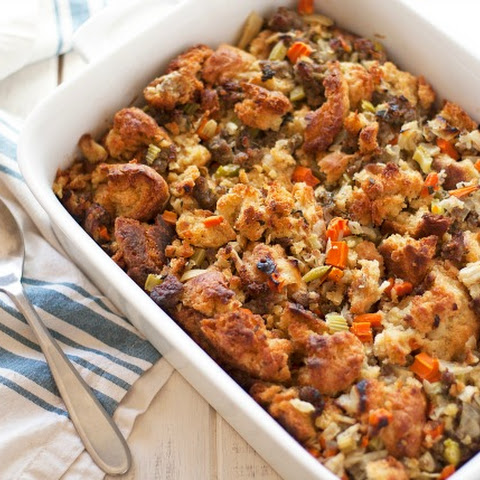 Sausage and Buttermilk Biscuit Stuffing