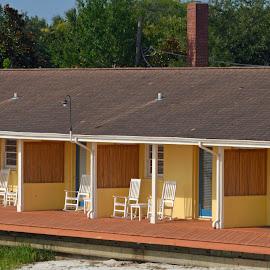 Deck Chairs by Bill Telkamp - Buildings & Architecture Office Buildings & Hotels ( chairs, buildings, architecture, hotel )