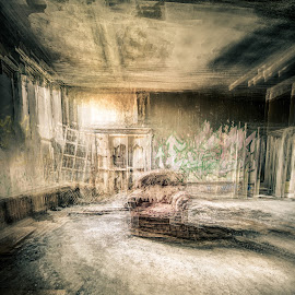 Timeshift by Peter Rollings - Buildings & Architecture Decaying & Abandoned ( chair, surrealism, multiple exposure, artistic, derelict, ruins, surreal, room, decay, abandoned )