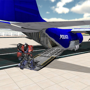 Download Police Robot Transporter Plane For PC Windows and Mac