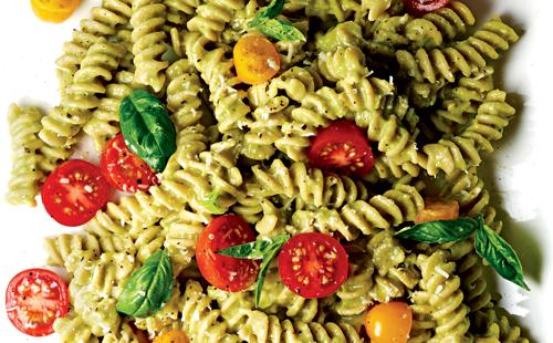 Fusilli with Basil, Tomatoes, and Avocado Sauce Recipe | Yummly