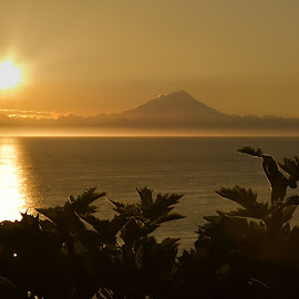 Sunset over Mount Redoubt from the Kenai Peninsula by JR Hudson   Scenic Edge - Landscapes Mountains & Hills ( ninilchik, kenai peninsula, mount redoubt, scenic edge photography, alaska, sunset, jr hudson, homer, anchor point )
