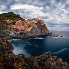 Colorful Fishing Village of Manarola, Cingue Terre by Jimmy Kohar - Landscapes Travel