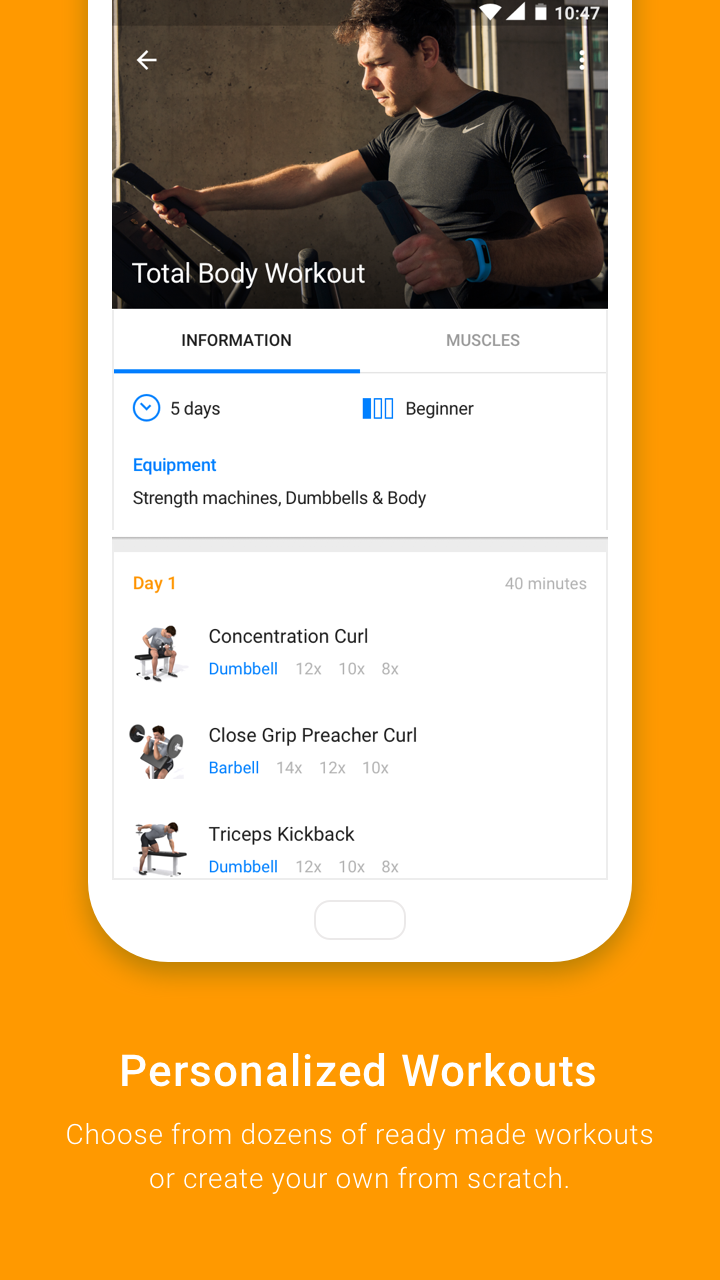Virtuagym Fitness Tracker - Home & Gym Screenshot 1