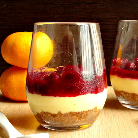 No-Bake Orange Cranberry Cheesecakes for Two