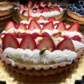 Strawberry Tart by Lope Piamonte Jr - Food & Drink Cooking & Baking