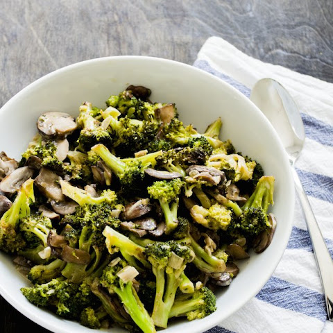 Sauteed Broccoli and Mushrooms in a Sherry Cream Sauce