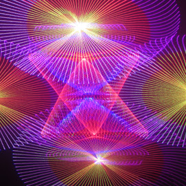 Pyramid of light by Jim Barton - Abstract Patterns ( laser light, colorful, light design, pyramid of light, pyramids, laser design, laser, laser light show, light, science )