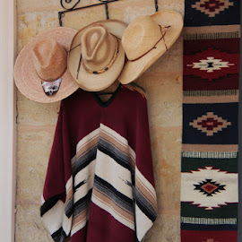 A little Southwest feeling by Ruth Sano - Artistic Objects Clothing & Accessories ( poncho, colorful, southwest, photography, hat )