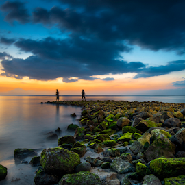Fishing by Agus Junam - Landscapes Beaches