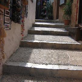 Rhodes by Gabriel Domnariu - City,  Street & Park  Markets & Shops ( path, summer, stones, sun )