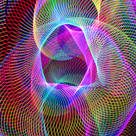King slinky by Jim Barton - Abstract Patterns ( slinky, laser light, colorful, light design, king slinky, laser design, laser, laser light show, light, science )