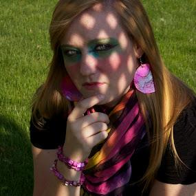 Shadow by Nikki Prickett - People Fashion ( fashion, woman, makeup, shadows, portrait )