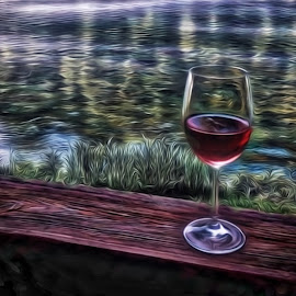 White Zin by Allen Crenshaw - Digital Art Things ( calm, wine, nature, expressionism, scene, relaxation, photography )