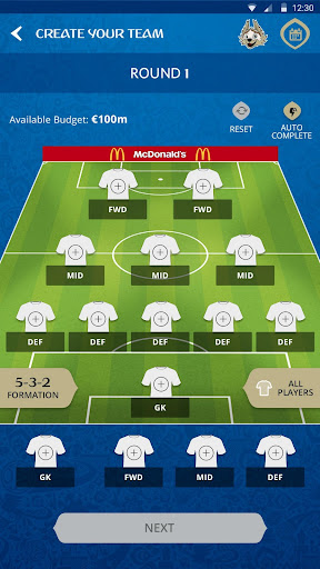 2018 FIFA World Cup Russia™ Fantasy